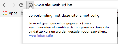 Website zonder HTTPS